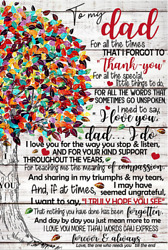 To My Dad I Love You Family Tree Colorful Poster Memories Son Birthday Gift Art