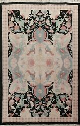 Vegetable Dye Nepalese Oriental Geometric Large Area Rug Hand-knotted Wool 10x14