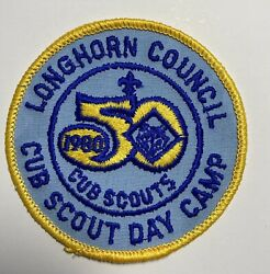 Boy Scouts Patch Longhorn Council Cub Scouts Day Camp 1980 50th