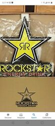 """Approximately 30"""" X 28.5"""" Rockstar Energy Drink Led Light Up Sign Brand New"""