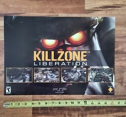 Killzone Liberation Sony Playstation Psp Video Game Store Display Promo Sign