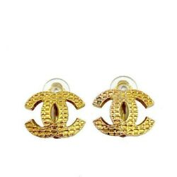 Earrings Coco Mark Vintage Accessories 100 Authentic From Japan K11764