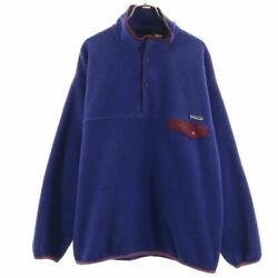 Secondhand 90s Made In Usa Synchilla 96 Fleece Blue Pullover Jacket