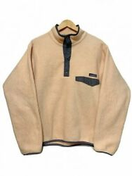 92 Make Synchilla Snap-t Pullover Salmon Pink 90s Mark Tag Snap Fleece