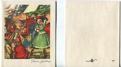 Vintage Victorian Christmas Colonial Steam Train Locomotive And 1 Pine Cones Card