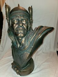 Sideshow 11 Scale Thor Faux Bronze Life Size Bust Statue Avengers Figure Sample