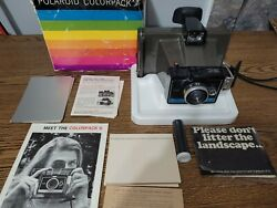 Polaroid Colorpack Ii Land Camera Vintage In Box With Extras