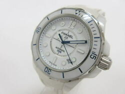 J12 Marine H2560 Automatic White Dial White Ceramic Rubber Band Menand039s