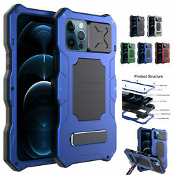 Shockproof Glass Metal Bracket Case Cover For Iphone 12 Pro Max Screen Protector