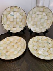 Mackenzie Childs Parchment Check Dinner Plates Set Of Four