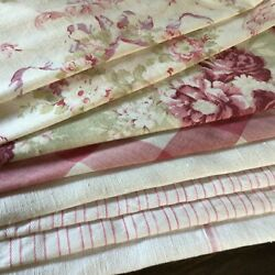 Antique French Fabric Coordinates Bundles Project Ticking Floral Linen Vichy