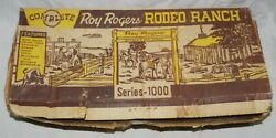 Vintage Marx Roy Rogers Rodeo Ranch Playset With Box