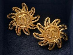 Earrings Coco Mark Vintage Accessories 100 Authentic Japan K11935