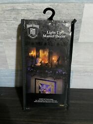 """Disney The Haunted Mansion Light Up Mantel Decor 60"""" X 23.5 New Fireplace Scarf"""