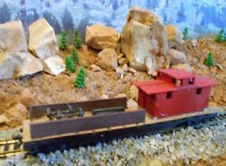 Ho Scale Tyco Track Repair Flat Car, Model Railroad Train Car, Old Collectible