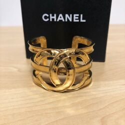 Bangle Coco Mark Gold Vintage 16.5cm Luxury 100 Authentic From Jp I18873