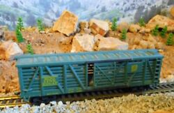 Ho Scale Tyco Soo Line Stock Car, Model Railroad Train Car, Old Collectible