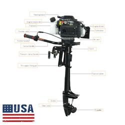 3.6 Hp 4stroke Outboard Motor 55cc Boat Engine W/ Air Water Cooling System Tool