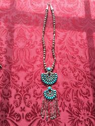 Victor Moses Begay Navajo Sterling Silver Turquoise Pendant Necklace