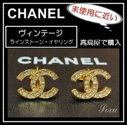 Earrings Coco Mark Vintage Accessories 100 Authentic Japan K12000