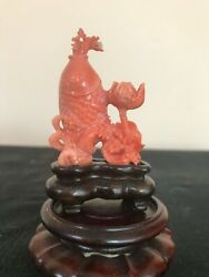 Finely Carved Antique Chinese Coral Snuff Bottle Collector Item Rare 24.17 Grams