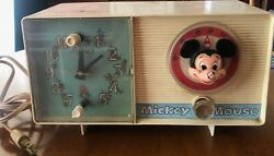 Vintage Ge Youth Electronics Mickey Mouse Clock Radio 1960's