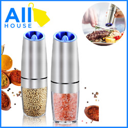 Electric Grinder Set 2 Pack Small Electric Hand Grinder Mill Salt And Pepper Aut