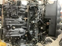 Yamaha Hpdi 300hp Outboard Crankcase Powerhead For Parts Or Repair
