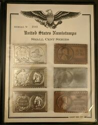Mort Reed United States Numistamps Small Cent Series Lot Of 6 Album