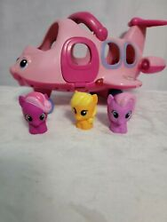 Fisher Price Little People horses Lot Lil Movers Pink Jet talking Plane Airplane