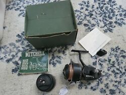Vintage Mitchell 300a Red Line Fishing Reel In Green Box Lot17727