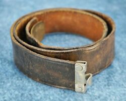 Wwii German Army Leather Dress Belt Wehrmacht Officer Us Military Veteran Estate