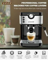 Jassy Js-101 19 Bar Espresso Coffee Machine And Give Away Grinder And Milk Pitcher