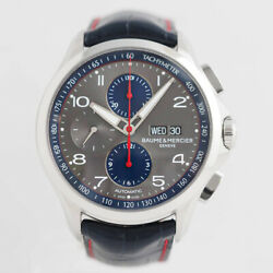 Baume And Mercier Clifton Club Chronograph Moa10370 Automatic Gray Dial Mens
