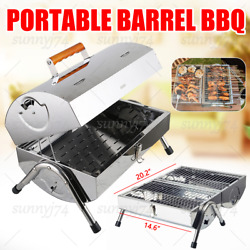 Portable Charcoal Trolley Barbecue Grill Garden Cooking Heating Heat Outdoor Bbq