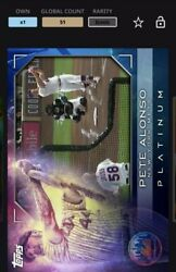 2021 Topps Bunt Digital Card Pete Alonso Platinum Marquee Moments Award - Iconic