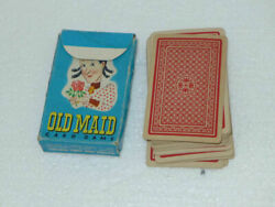 Old Maid Vintage Playing Cards Whitman Brand - Made In America