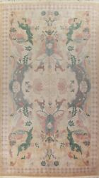 Ivory Floral Nepalese Oriental Area Rug Hand-knotted Wool Over Size Carpet 12x18