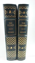 Franklin Library Leather Bound Edition The Iliad And The Odyssey By Homer 1976 Lot