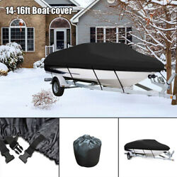 1pc 420d Waterproof Trailerable Boat Cover For 14-16ft Boat Cover Tear Resistant