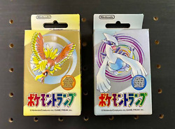 Pokemon Gold And Silver Poker Playing Cards Set Sealed 1999 Nintendo New