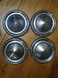 4 Vintage Ford 60's Dog Dish, Hub Caps, Center Cap, Wheel Covers