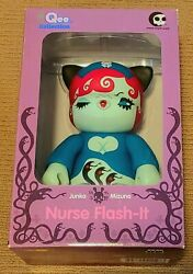 """Toy2r Junko Mizuno Nurse Flash-it 8"""" Qee 2007 Rare Limited Only 500 Made"""