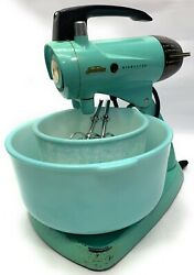Vintage Sunbeam Mixmaster 12 Stand Mixer Turquoise Robins Egg / Working
