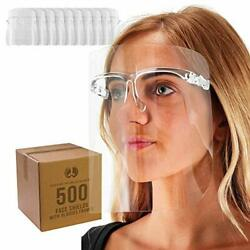 Tcp Global Salon World Safety Face Shields With All Clear Glasses Frames Case...