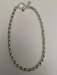 Beautiful Slane And Slane Sterling Silver 925 Onyx Toggle Necklace Chain 16