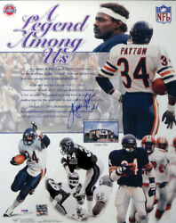 Walter Payton Autographed Signed 16x20 Poster Photo Chicago Bears Psa/dna 56040
