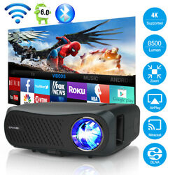 8500lms Fhd Projector Android 5g Wifi Led 4k Home Video Tv Native 1080p Zoom Hd