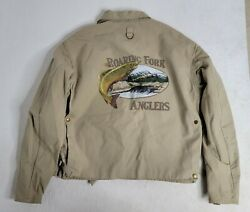 Menand039s Vintage Polo Sportsman Roaring Fork Anglers Fishing Jacket