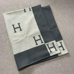 Hermes Cashmere Mixed Blanket Free Shipping No.7917